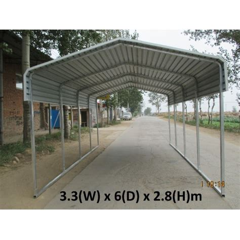 Carport Floor portable carport 3 3x6m capless roof suitable for any