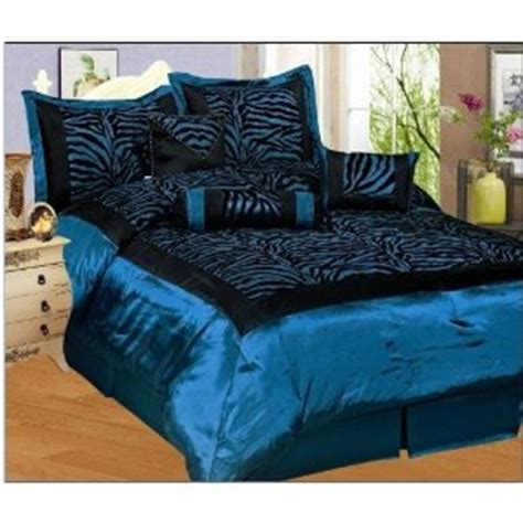 blue zebra bedding blue queen comforter sets