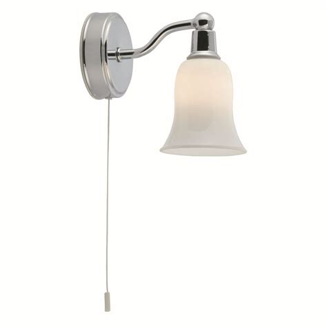 Decorative Ip44 Switched Bathroom Wall Light Chrome Decorative Bathroom Lights