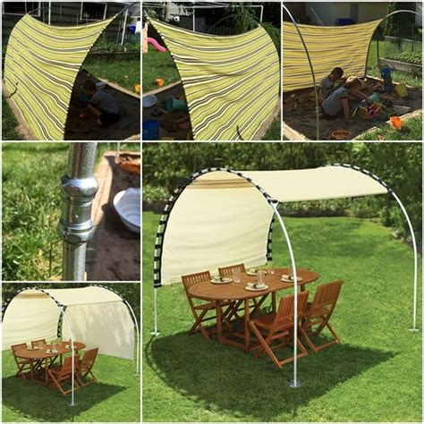 how to make a canopy how to make adjustable diy outdoor canopy beesdiy
