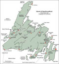 road map of newfoundland canada about newfoundland