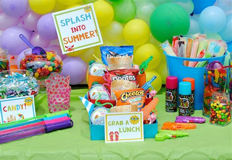 fun summer party ideas splash into summer party fun squared