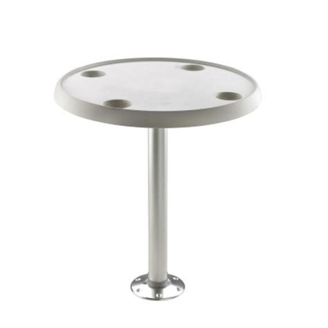 boat table with pedestal fixed height or oval