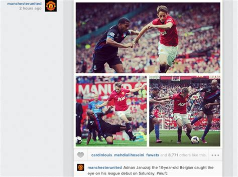 manchester united post instagram pictures celebrating