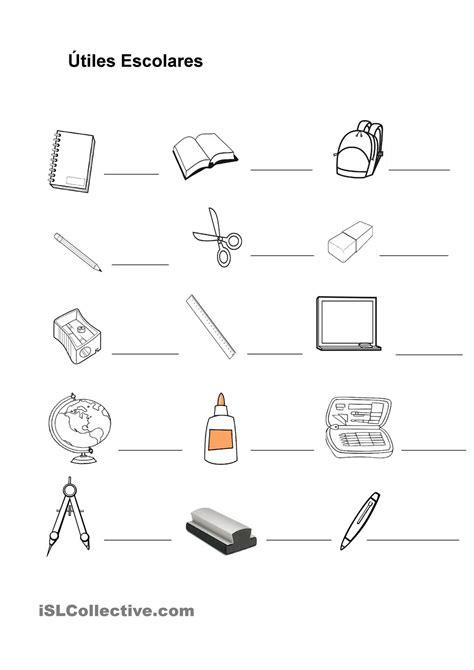 imagenes de utiles escolares en ingles para imprimir pix for gt utiles escolares en ingles escuela ingles