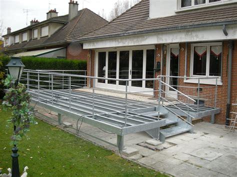 terrasse ossature métallique terrasse bois ossature metallique nos conseils