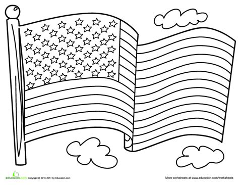 A Coloring Page Of The American Flag by And Stripes An American Flag Lesson Plan