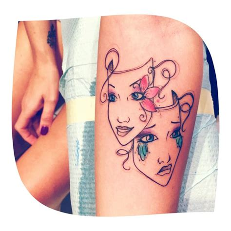 comedy tragedy tattoo designs best 25 bipolar ideas on tattoos