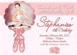 ballet birthday invitation printable file diy 5x7