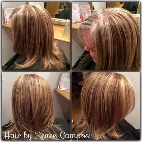 how to blend grey hair with highlights grey blending with a highlight lowlight hair pinterest