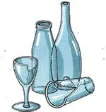 fabbrica bicchieri vetro rifiuti da riciclare