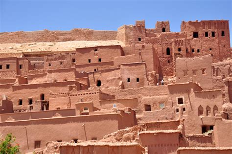 adobe houses cities of sand ksar ait ben haddou and ouarzazate
