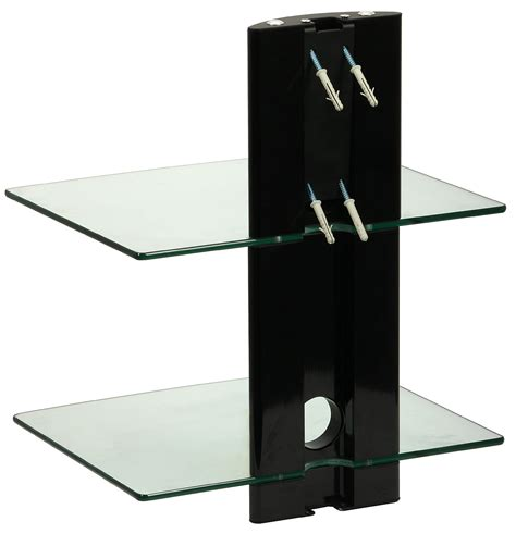dvd shelf ds 102cb two level wall mounted