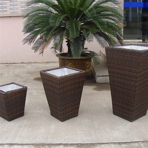 Rattan Garden Planters by Outdoor Planters Flower Planter Pots Rattan Garden Pots