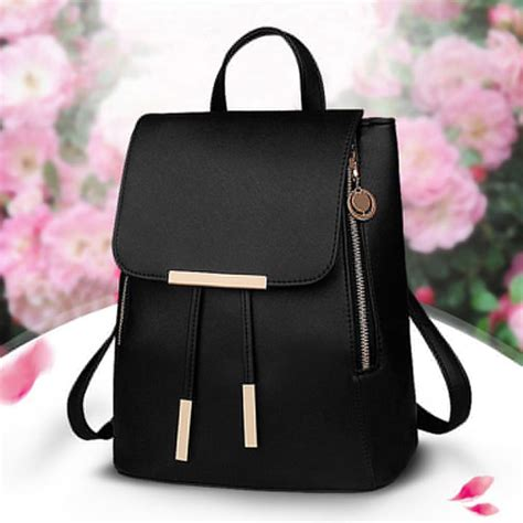 Backpack Fashion uk fashion pu leather shoulder school travel