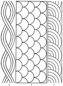 free quilting templates rope shell fan quilting pattern larger image