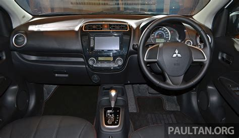 mitsubishi attrage 2016 interior mitsubishi attrage launched in malaysia from rm59k image