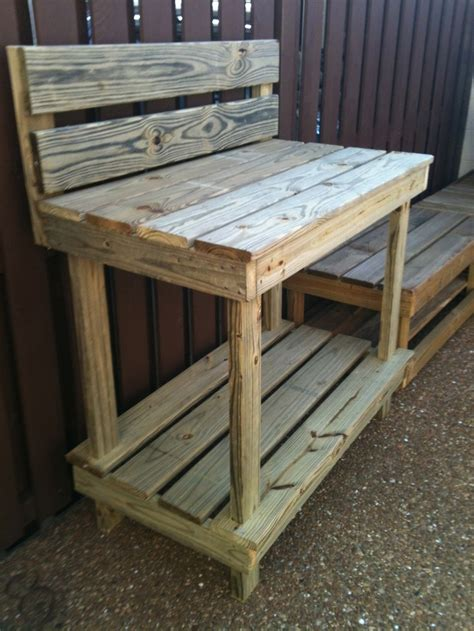 gardening work benches garden work bench with high back garden crafts pinterest