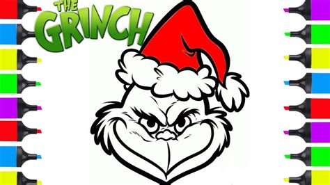 how to draw grinch youtube how to draw grinch easy christmas coloring pages for kids cartoon christmas stuff art youtube
