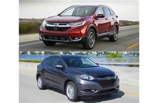 Honda Hrv Vs Crv 2017 Honda Hr V Vs 2017 Honda Cr V To U S