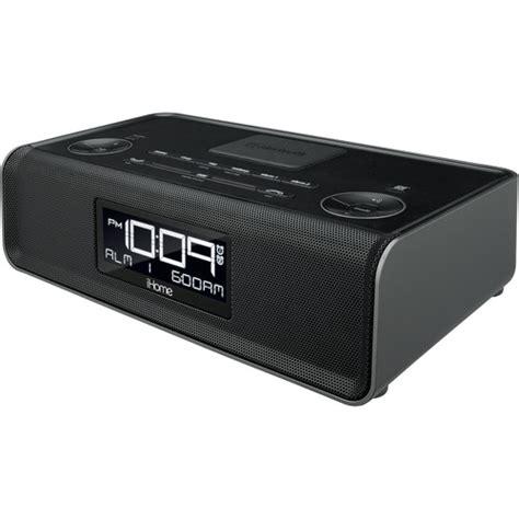 ihome cabinet radio ihome ibn43 fm clock radio with usb charging ibn43bc b h photo