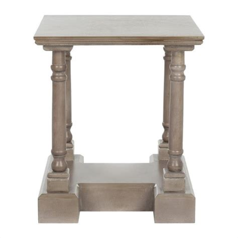 grey wood end tables safavieh terry wood end table in grey amh5707a