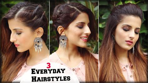 hairstyles for work party 1 min cute everyday simple effortless hairstyles for