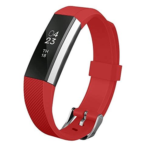Fitbit Alta Hr Fitness Wristband Smartwatch Tracker Black L fitbit alta band umtele soft replacement wristband with metal buckle clasp for fitbit alta