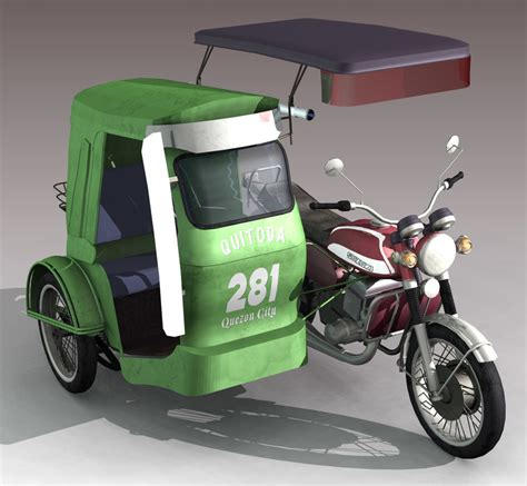 philippines tricycle philippine tricycle 3d lwo