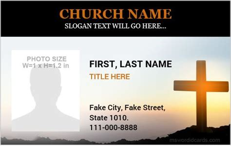 church id card template 5 best church id card templates for ms word microsoft