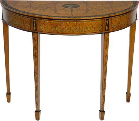 Demi Lune Tables by Demilunes Federal Painted Demilune