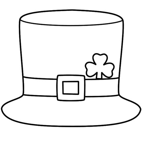 leprechaun hat coloring page st patrick s day st