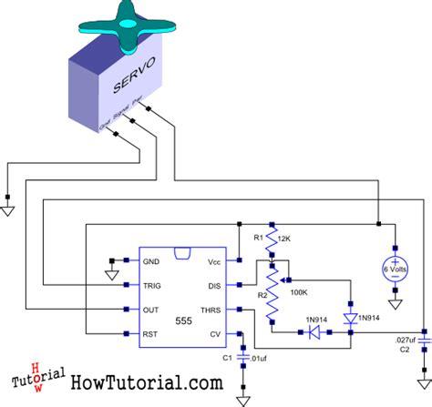 rc servo motor circuit how do you build a simple circuit to a servo