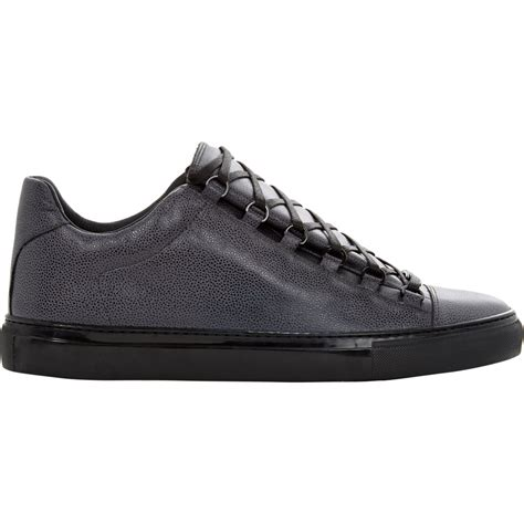 low top balenciaga sneakers lyst balenciaga arena low top sneakers in gray for