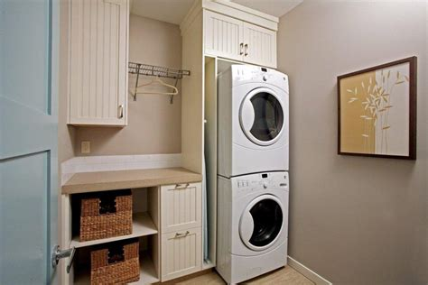 Small Bathroom Cabinet Storage Ideas by Stackable Laundry Laundry Room Traditional With Dryer Rack