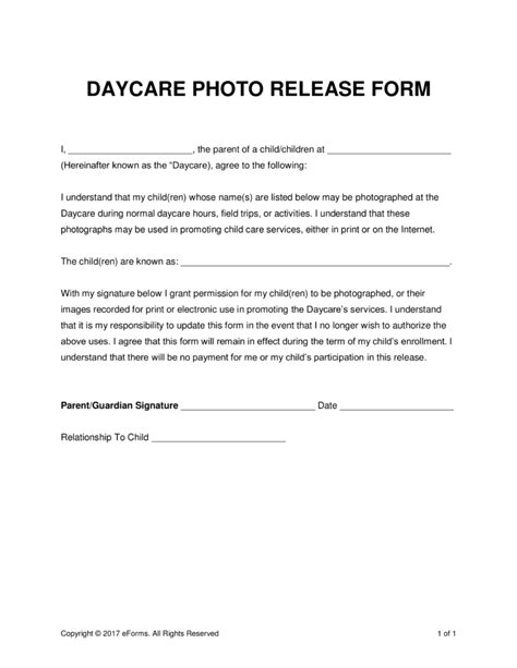 photo release form template for children print release forms resume template ideas