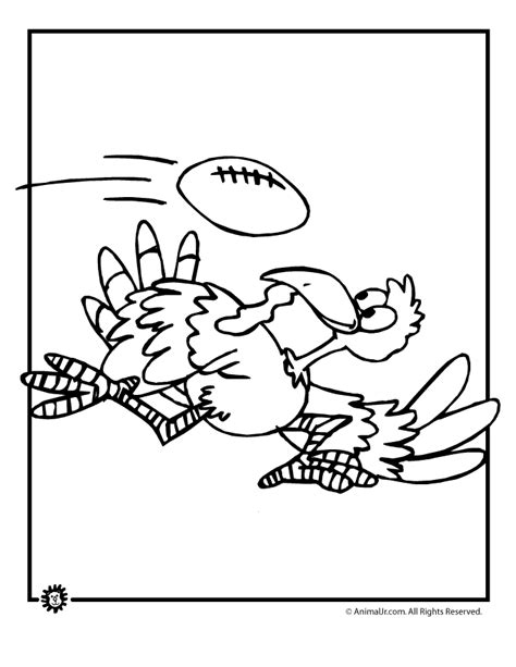 football turkey coloring page fall coloring page football turkey woo jr kids