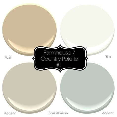 Sherwin Williams: 3 Neutral Farmhouse Country Paint Palettes