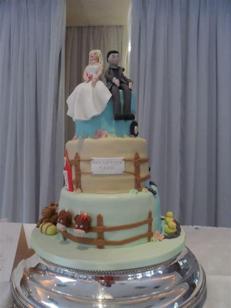 farm themed wedding cake my cakes