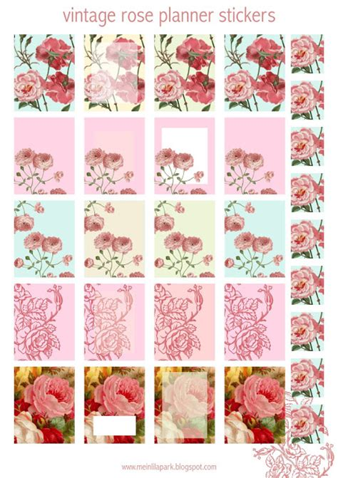 printable rose stickers free printable rose planner stickers ausdruckbare