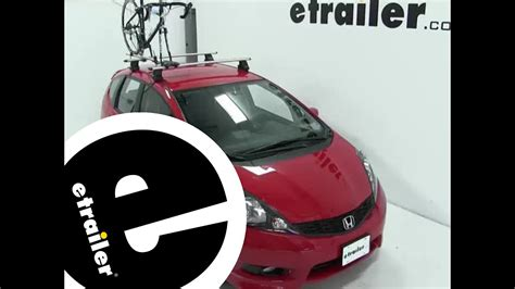 2012 honda fit roof rack review of the rockymounts tierod roof bike rack on a 2012 honda fit etrailer com youtube