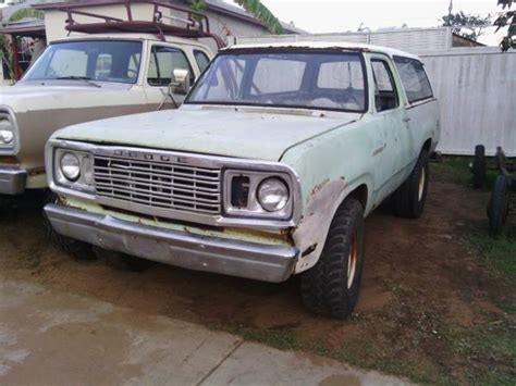 1978 dodge ramcharger for sale 1978 dodge ramcharger 4x4 for sale in national city ca