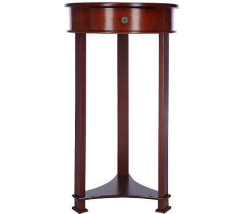 round accent table with drawer round cherry accent table with drawer by valerie qvc com