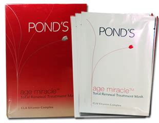 Masker Ponds buy pond s age miracle total renewal treatment mask