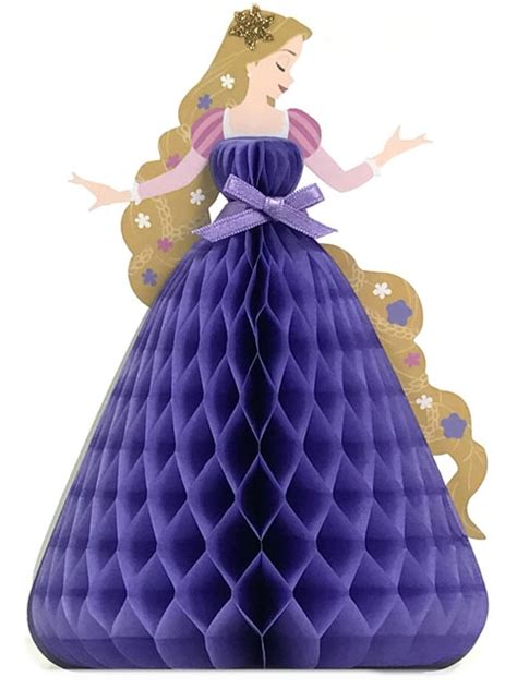 Disney Premium I Rapunzel disney princess rapunzel honeycomb pop up greeting card