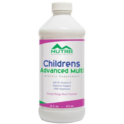 supplement with label children s liquid multivitamin supplement