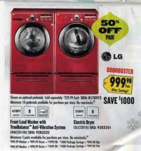best black friday deals washers lg front load washer model wm2301hr and lg electric