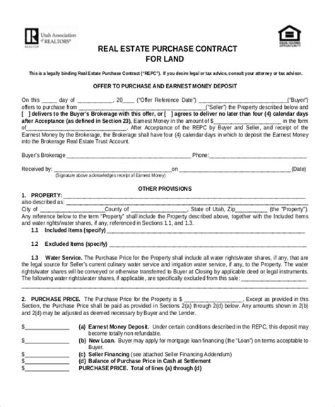 real estate land contract form pictures to pin on