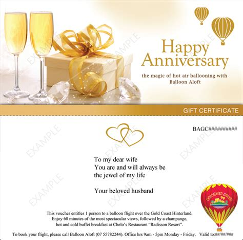 anniversary coupon template wedding anniversary gifts wedding anniversary gift vouchers