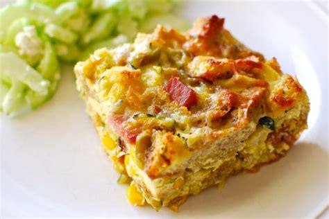 strata recipe breakfast strata with ham zucchini and fresh corn